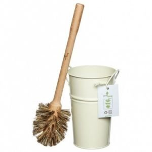 Toilet Brush with Cream Bucket