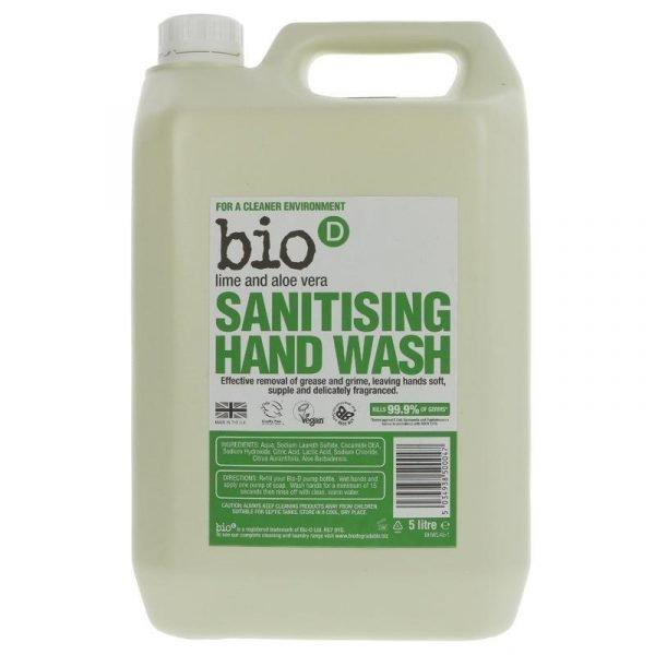 Bio-D Hand Wash 5 Litre - Lime and Aloe Vera