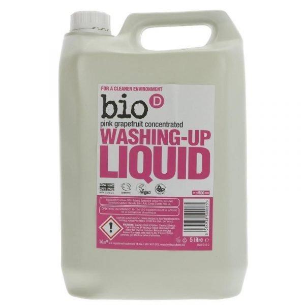 Bio-D Washing Up Liquid 5 Litre Pink Grapefruit