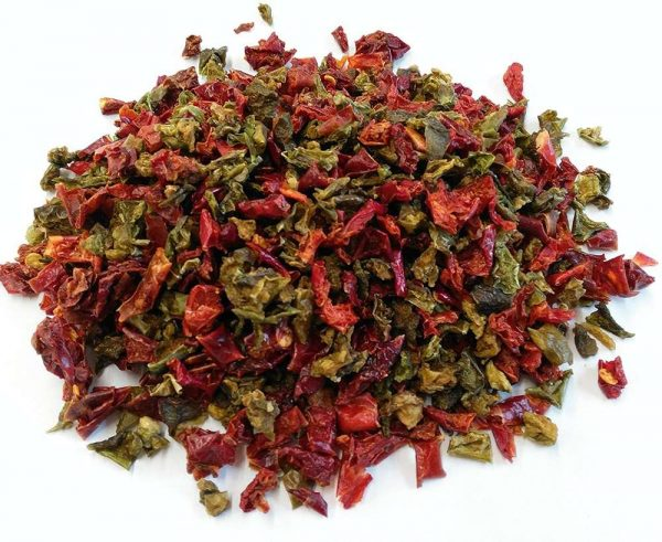 Dried Mixed Peppers per 100g