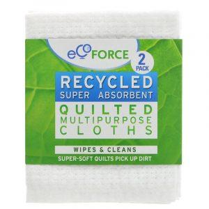Ecoforce Multipurpose Cloths packet of 2