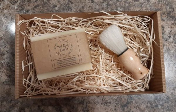 Mad About Nature Shampoo, Shower & Shave Bar & Brush