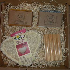 Mad About Nature Soap Gift Set Soap rack, soaps. loofah