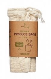 Produce Bags and Bread Bag - 3 pack
